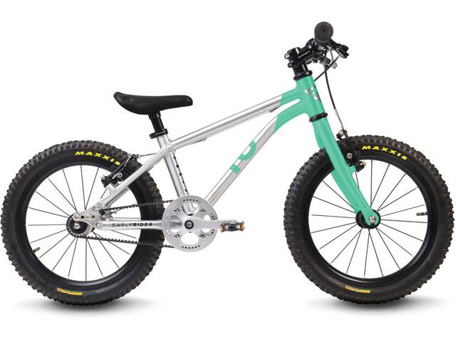 "Early Rider Belter Trail 16"" Børnecykel Børn, brushed aluminum/cyan"